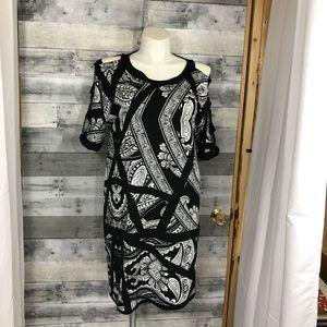 Avenue Plus Size Black & White Dress 18/20
